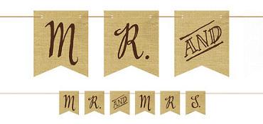 Rustic Wedding Pennant Banner