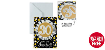 Premium Prismatic 30th Birthday Invitations 8ct - Sparkling Celebration