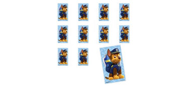 Jumbo Chase Stickers 24ct - PAW Patrol