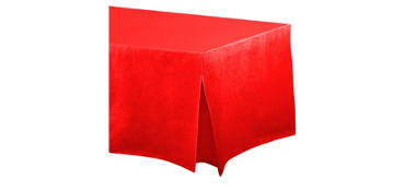 Red Flannel-Backed Vinyl Fitted Tablecloth