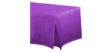 Purple Flannel-Backed Vinyl Fitted Tablecloth