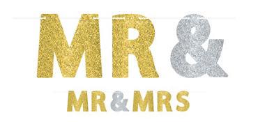 Glitter Mr. & Mrs. Letter Banner Kit