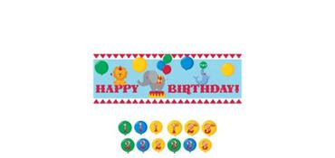 Giant Carnival Birthday Banner Kit