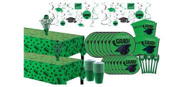 Green Graduation Deluxe Tableware Kit