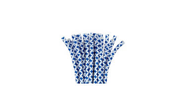 Royal Blue Diamond Paper Straws 24ct
