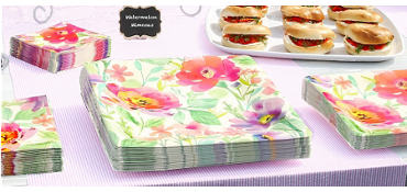 Watercolor Floral Rise & Shine Brunch Party Supplies