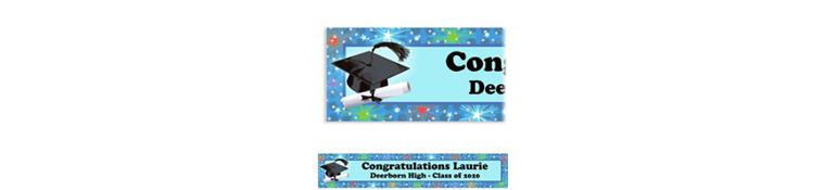 Dazzling Grad Custom Graduation Banner 6ft