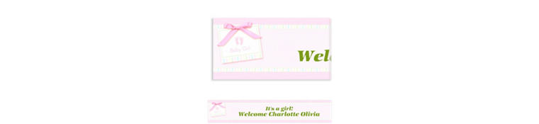 Custom Baby Soft Pink Baby Shower Banner 6ft