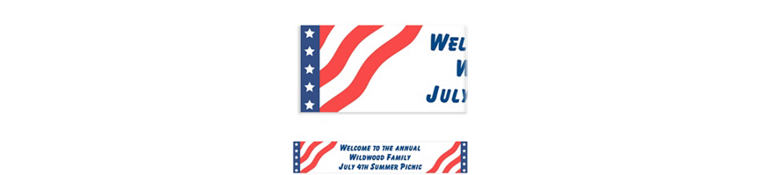 Custom All American Banner 6ft