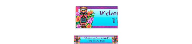 Custom Tiki Island Banner 6ft
