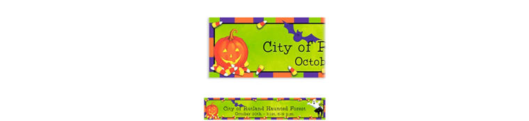 Custom Scary Fun Halloween Banner 6ft