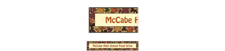 Custom Autumn Medley Banner 6ft