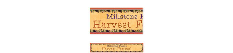 Thanksgiving Medley Custom Banner