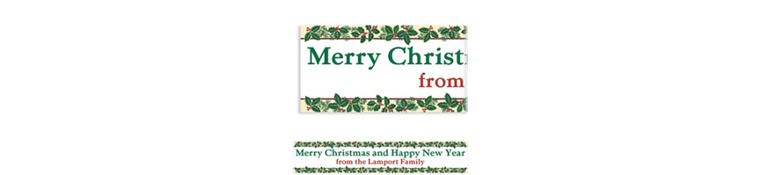 Custom Holiday Treasures Banner 6ft