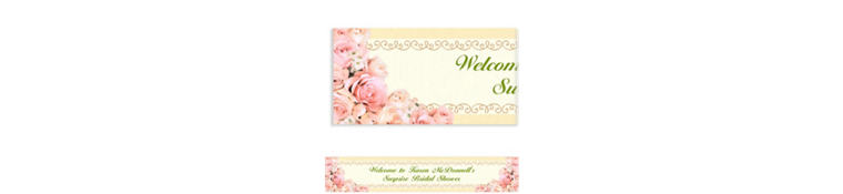 Dazzling Bouquet Custom Wedding Banner