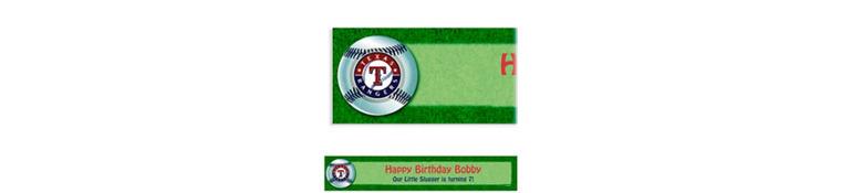 Custom Texas Rangers Banner 6ft