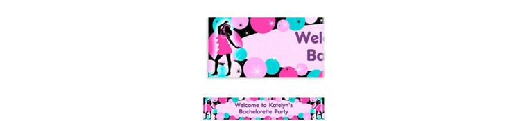 Girl's Night Out Custom Bachelorette Party Banner 6ft