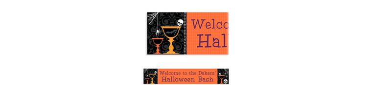 Custom Shocktails Halloween Banner 6ft