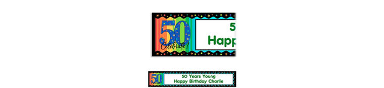 A Year to Celebrate 50 Custom Birthday Banner
