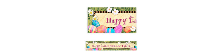 Easter Elegance Custom Easter Banner 6ft