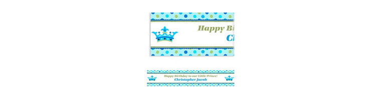 Custom Little Prince Birthday Banner 6ft
