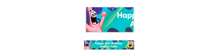SpongeBob Classic Custom Birthday Banner 6ft