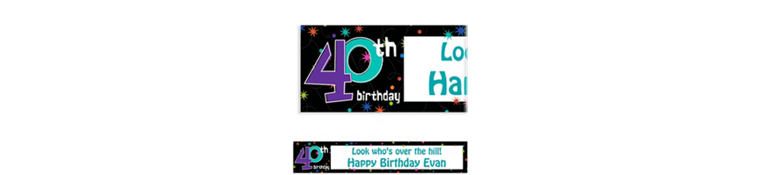 Custom The Party Continues 40th Birthday Banner 6ft