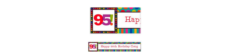 Custom Birthday Dots & Stripes 95th Banner 6ft