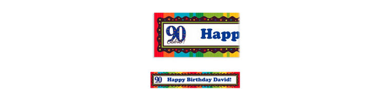A Year to Celebrate 90 Custom Banner 6ft