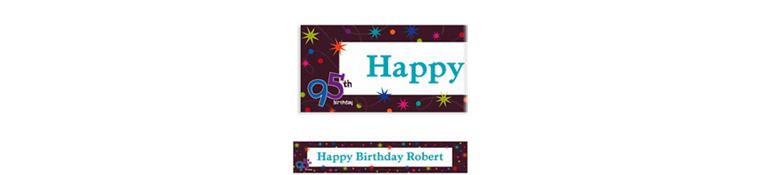 Custom The Party Continues 95th Banner 6ft