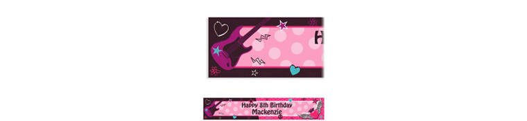 Rocker Girl Custom Banner 6ft