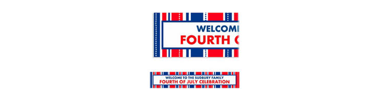Custom American Summer Stripes Banner 6ft