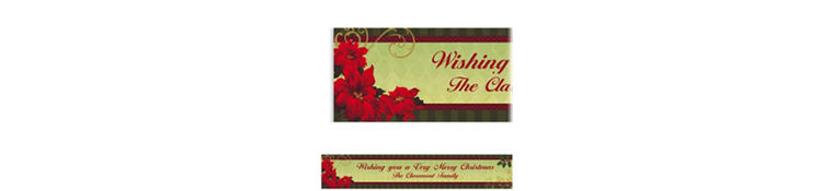 Custom Vintage Poinsettia Banner 6ft