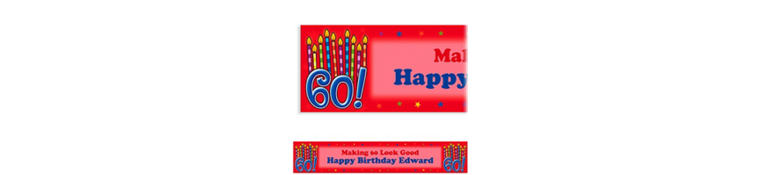Great Birthday 60 Custom Banner 6ft