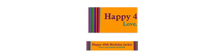 Custom Birthday Stripe Banner 6ft