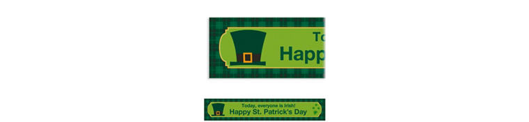 Custom St. Paddy's Day Plaid Banner 6ft