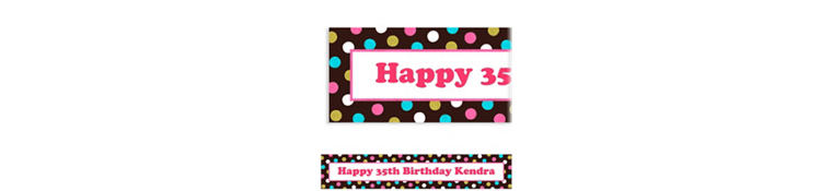 Custom Chocolate & Dots Polka Dot Banner 6ft