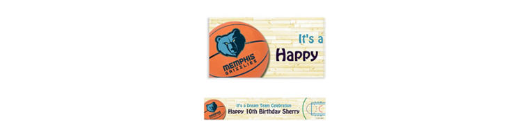 Custom Memphis Grizzlies Banner 6ft