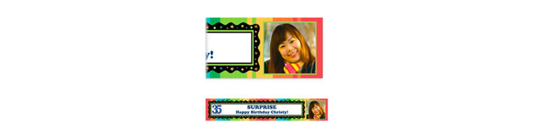 Custom A Year to Celebrate 35th Birthday Photo Banner 6ft