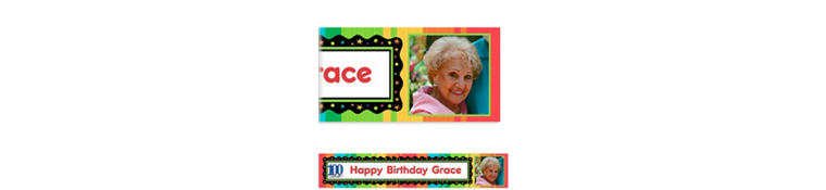 Custom A Year to Celebrate 100th Birthday Photo Banner 6ft
