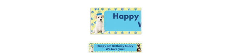 Party Pups Custom Banner 6ft