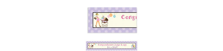 Custom Modern Mommy Baby Shower Banner 6ft