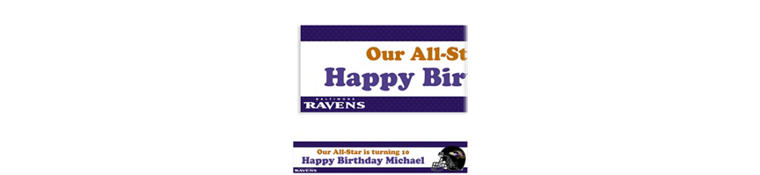 Baltimore Ravens Custom Banner 6ft