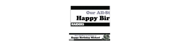 Oakland Raiders Custom Banner 6ft