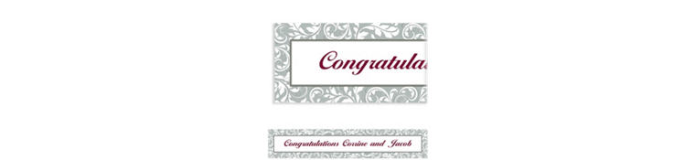 Custom Silver Wedding Banner 6ft