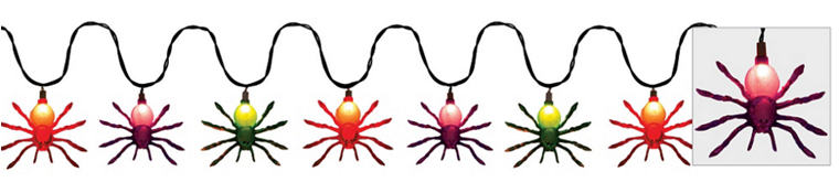 Glitter Spider String Lights