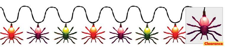 Glitter Spider String Lights