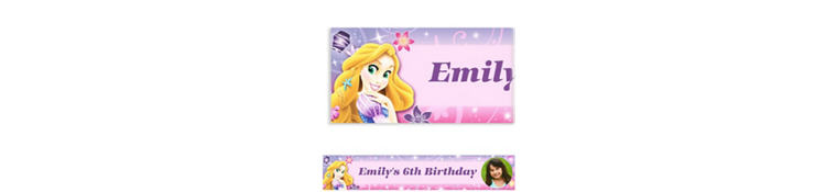 Tangled Custom Photo Banner