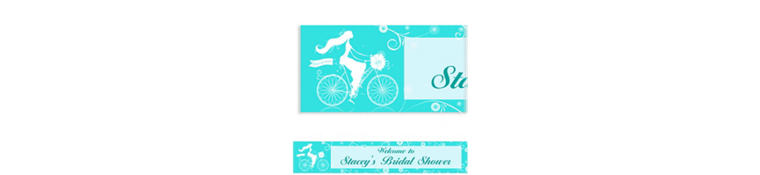 Chapel Bicycle Custom Bridal Shower Banner