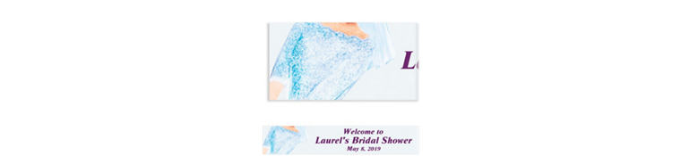 Watercolor Bride Custom Bridal Shower Banner